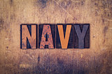 Navy Concept Wooden Letterpress Type
