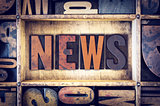 News Concept Letterpress Type