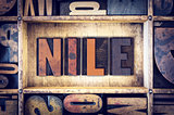 Nile Concept Letterpress Type