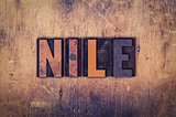 Nile Concept Wooden Letterpress Type