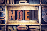 Noel Concept Letterpress Type
