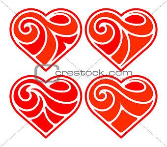Four flat heart