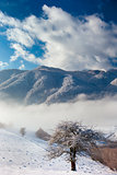Winter Carpathian mountains