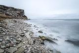 Rocky Shore by Ocean