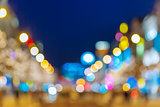 Bokeh photo of Wenceslas Square at night, Prague