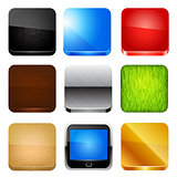 App icon set. Vector