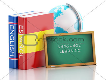 3d Dictionaries and Blackboard. Language learning