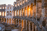 Architectural Details of Pula Coliseum, Croatia