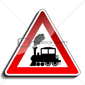 A sign warning train