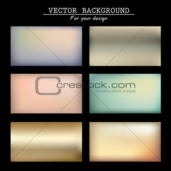 Abstract blurred vector backgrounds