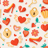 Romantic Valentine pattern