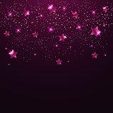 Pink shining stars