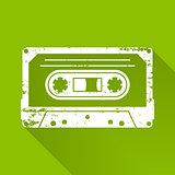 Cassette silhouette icon