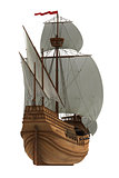 Caravel On White Background