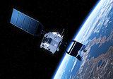 Crashed Satellite Flying Toward The Earth