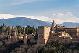 Real view of the famous Alhambra, Granada, Spain.