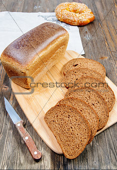bread on a cutting board
