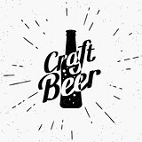 Craft beer black label