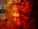 Guitar Grunge Background Illustration