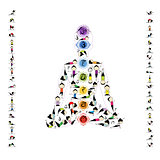 Yoga lotus pose made from asanas for your design
