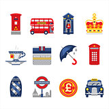 London and England Icon Set