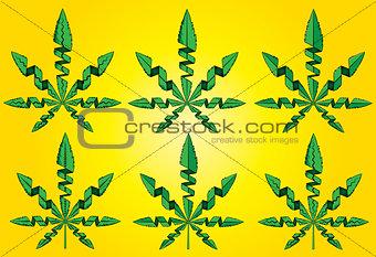 cannabis marijuana leaf symbol vector illustration