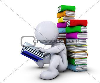 3D Morph Man reading book