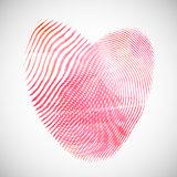 Watercolor fingerprint hearts