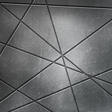 Scratched metal background with cut outs