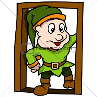 Green Dwarf At The Door