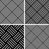 Seamless checked patterns set.