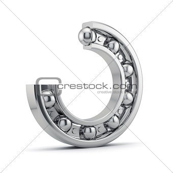 Bearings production isolated on white
