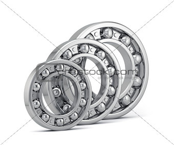Bearings set production isolated on white