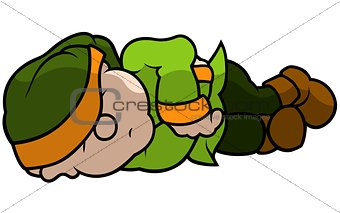 Green Dwarf Sleeping