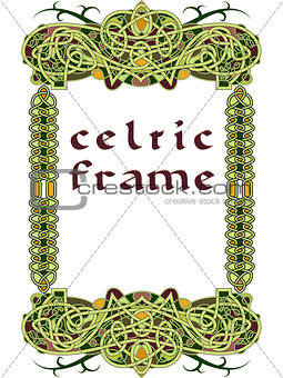 Frame in Celtic style a vector