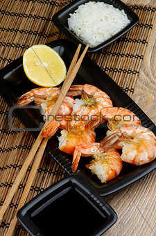 Asian Style Roasted Shrimps