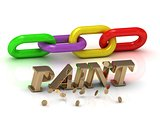 PAINT- inscription of bright letters and color chain