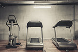 Treadmills set in gym
