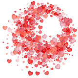 Valentines day vector background with heart