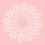 Mandala. Hand drawn ethnic decorative element vector illustration eps 10 for your design.