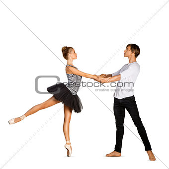 Beautiful ballet couple