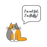 Furry cat with speech bubble and saying