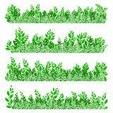 Green leaves border. EPS 10