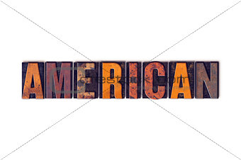 American Concept Isolated Letterpress Type