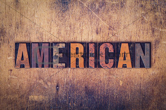 American  Concept Wooden Letterpress Type