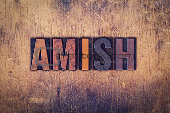 Amish Concept Wooden Letterpress Type