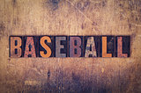 Baseball Concept Wooden Letterpress Type