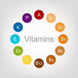 Vitamins collection for your design