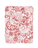 Abstract christmas pattern, sketch for your design