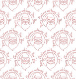 Stylish Merry Christmas seamless pattern with Santa Claus